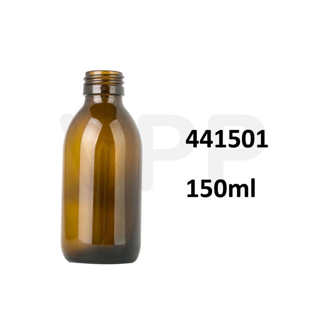 Chai siro thủy tinh 150ml